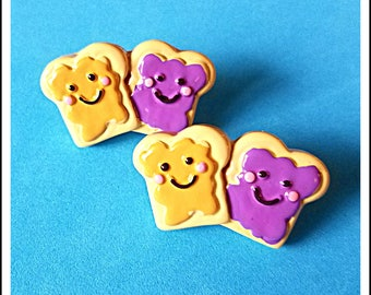 Tube Trinkets: Delicious Peanut Butter and Jelly!  Please select quantity 2 for a pair!