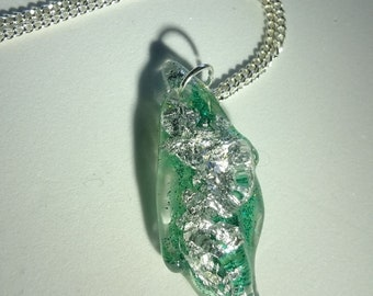 Green & Silver Ice Pendant