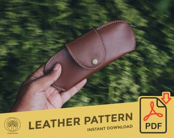 Leather Sunglasses Case \\ Template Pattern PDF \\ Leather Crafting \\ PDF Pattern \\ Leathercraft Pattern \\ Leather Pattern \ DIY pattern