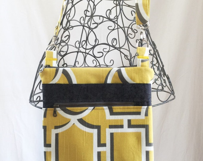 Cross Body Bag, Across The Body Bag, Adjustable strap, long handle purse, Travel Purse, Zippered Small Messenger Bag, #2011
