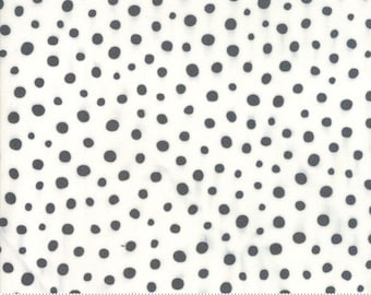 Savannah by Gingiber for Moda - Spotted - Charcoal Black - 1/2 Yard Cotton Quilt Fabric 817