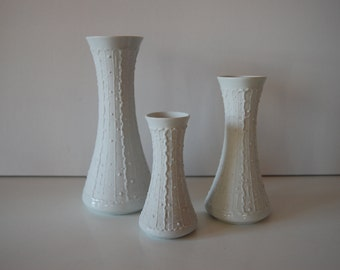 3 vases Royal Porzellan Bavaria KPM germany handarbeit 678/0 / 1/ 2/
