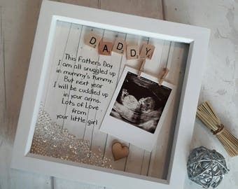 Daddy to Be Frame, 1st Fathers day Gift, Scan Picture Frame, Gift For New Daddy, Present For Daddy, Gift For Dad, Personalised Fathers Day.