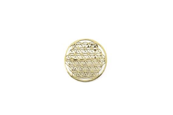 Flower of Life Pin, Hat Pin, Festival Wear, Festival Pins, Festival Jewelry, Sacred Geometry