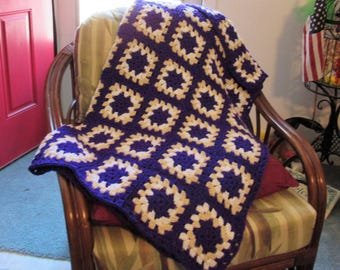 Traditional Granny Square Afghan