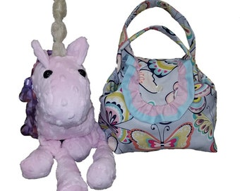 Unicorn Stuffed Animal Made With Soft Minky Cuddle Fabric Offered in Many Different Color