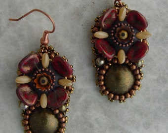 Mosaic Flower Earrings