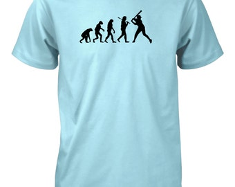 Evolution of Man Baseball T-Shirt Hitter Batter Beisbol Sports