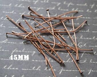 20 nails Flathead 45mm copper metal