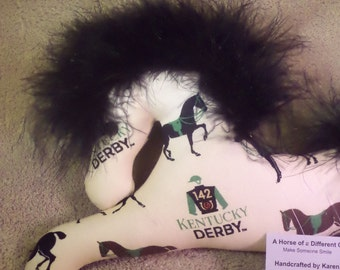 Kentucky Derby, run for the roses, Derby party favor,horse ornament