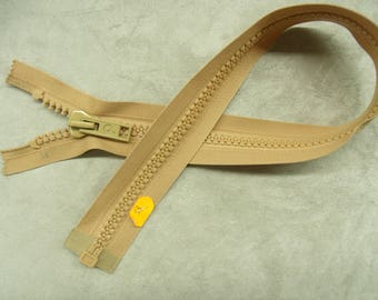 Separable zipper - chunky knit-55 cm - BEIGE