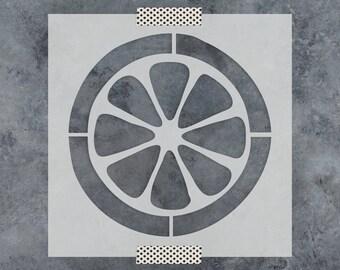 Lemon Stencil - Reusable DIY Craft Stencils of a Lemon