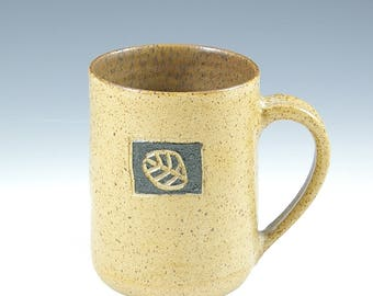 Large Pottery Coffee Mug,  Handmade Man Pottery Mug,  Cup, Coffee  Tea Gift, Beer Mug 20 oz. Twenty Ounce, Nature Lover Mug Gift,  Man Gift