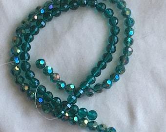 Teal Czech Glass Beads
