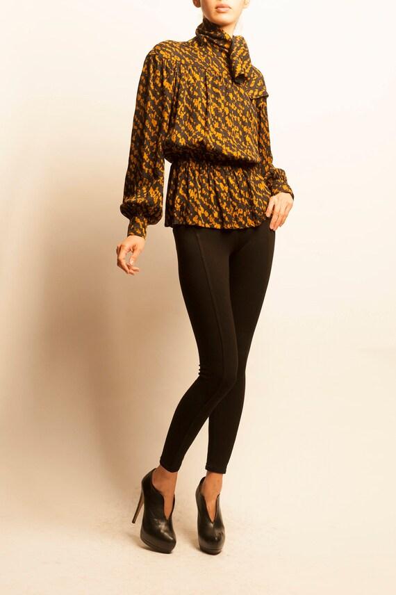 Christian Dior 1980's silk tunic blouse