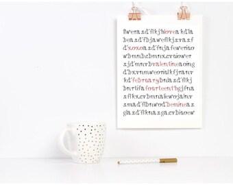 Valentine Word Search Printable