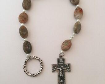 Irish Penal Autumn Jasper One Decade Rosary