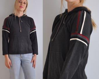 90s Ribbed Sweater // 90s Varsity Sweater // 90s Sweatshirts // 90s Pullover // Vintage Hoodie Sweatshirt // Medium