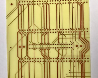 "RECYCLED Vintage CIRCUIT BOARD Fiberglass and Copper Innerlayer Pattern Sheets Reclaimed Squares Pkg4  4 x 4"" IN1"