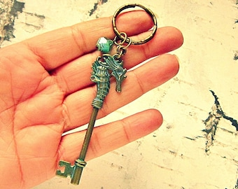 Keychains For Women, Cool Keychains, Keychain For Mom, Keychain For Her, Seahorse Keychain, Seahorse Gifts, Seahorse Accessories