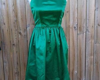 VTG Bill Blass Neiman Marcus Emerald Halter Dress