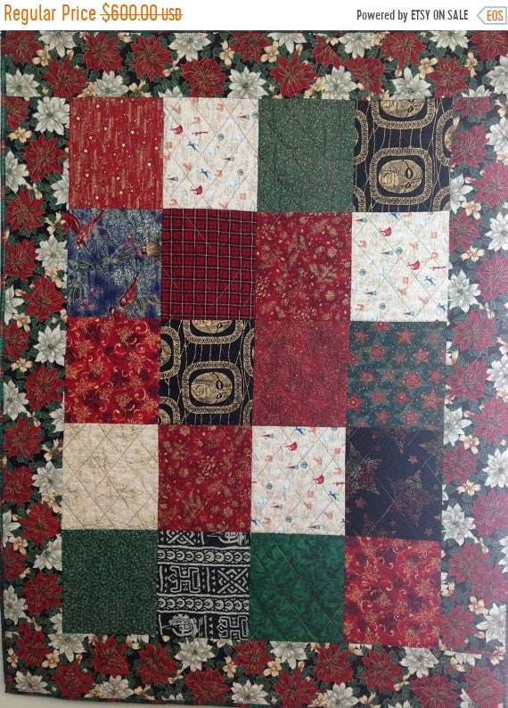 Hello Summer Sale Ancestral Christmas 42 x 55 inch art quilt wallhanging