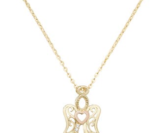 9ct GOLD Necklace Pendant  Cubic Zirconia /CZ with 18 inches Chain