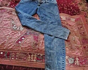 LA MIRAGE - washed Denim Bluejeans für Damen, Vintage - mittelgroß bis groß