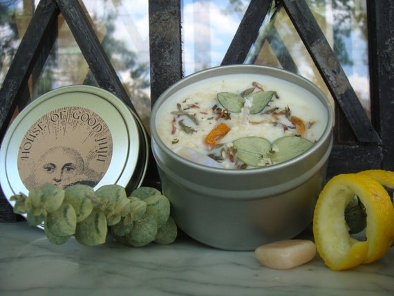 New Moon - New Beginnings Candle infused with Moonstone