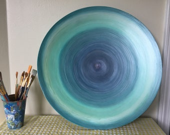 Hand Painted Decorative Wood Bowl