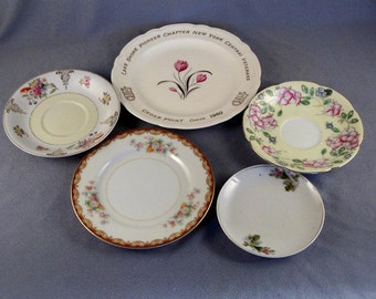 4 Vintage Plates Saucers // Made In Occupied Japan // Replacements // Odds and Ends // to Match Up // One Sold Out // See Below