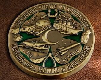 Lucky Travel Pin - World's Luckiest Travel Jumbo Pin!