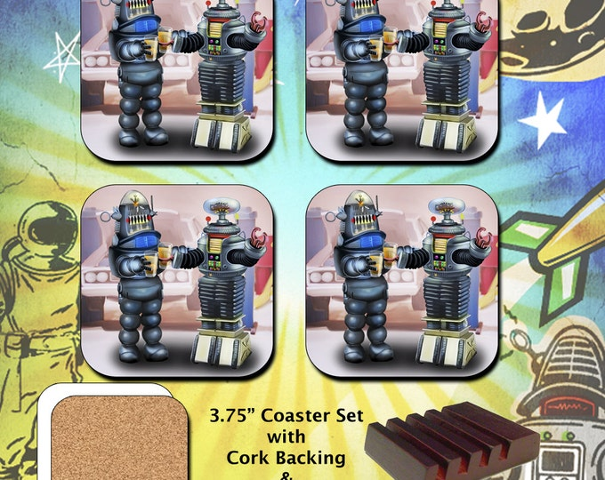 Lost in Space / B-9 Robot / Forbidden Planet / Robby the Robot / Coaster Set