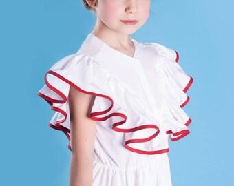 White frilled Dress