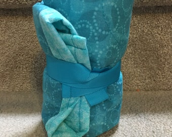Teal Quilted Travel Changing Pad