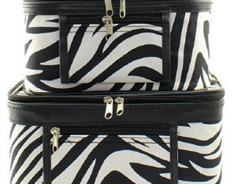 Zebra Train Cases set of 2