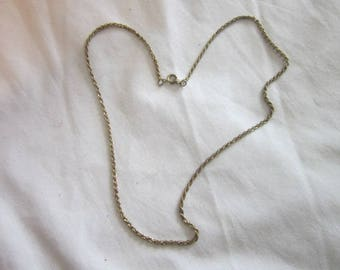 """18"""" Gold Tone Triple Link Rope Chain Twist Necklace"""