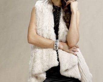 Cream Rabbit Fur Vest, Rabbit Fur Vest, Rabbit Fur Top, Rabbit Vest, Called Dana cream.