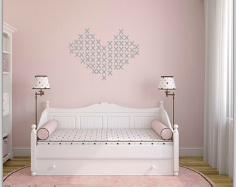 FREE SHIPPING Wall Decal X Color Gray. Nursery Wall Decal. Kids Wall Decal. Vinyl Wall Decal. Home Decor.