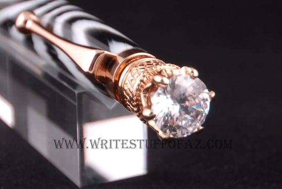 Zebra Stripe Twist Pen, Adorned with Swarovski Crystal