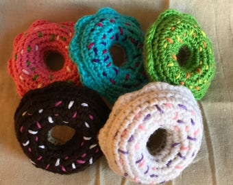 Crocheted Catnip Donuts