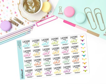 LAUNDRY TODAY Paper Planner Stickers!