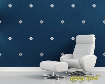 Diamond Wall Decor Decals - Diamond Decal Set - Pattern Decals - living room decor - diamond Wall Decals - nursery decor