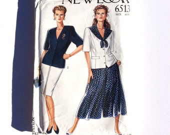 New Look 6513, Women's Pattern, Pencil Skirt, Culottes, and Jacket, Size 6-18, Uncut Vintage Pattern