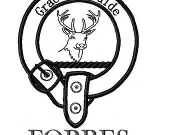 SFancy Heraldry Badge Clan Forbes - 5 x 7