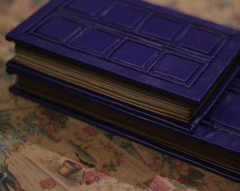 А6/A5, River Song's Journal, River Song's Book , Tardis Notebook, Doctor Who, Vegan Leather