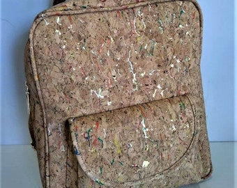 Cork Backpack with Designs - Cork Handbag - Cork Bag - 100% Natural Cork