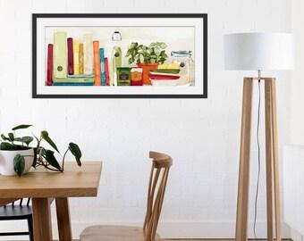 Kitchen Art Print. Kitchen Shelf Picture. Wall Art. Kitchen Interiors. Cooking Print.