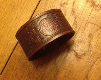 Handgemaakte lederen armband