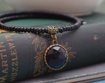 Choker Necklace with Black Pendant